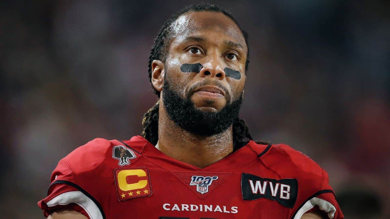 """Larry Fitzgerald (ex-Arizona Cardinals) doesn't want to play in the NFL """"right now""""."""